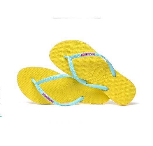 Zehentrenner - Havaianas Slim Logo Revival Yellow
