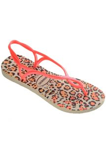 Slippers - Havaianas Luna Animals Beige