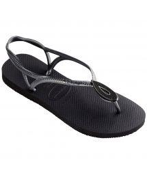 Black Flip Flops - Havaianas Luna Special Black