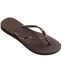 Flip-Flops - Havaianas Slim Metal Mesh Dark Brown