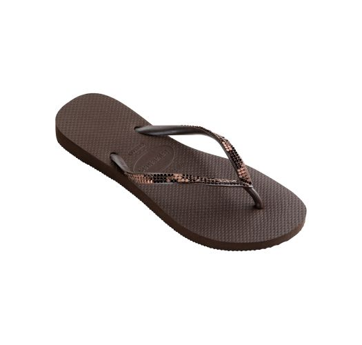 Flip-Flops - Havaianas Slim Metal Mesh Dark Brown