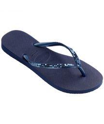 Flip-Flops - Havaianas Slim Metal Mesh Navy Blue