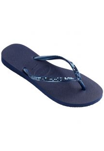 Chinelos - Havaianas Slim Metal Mesh Navy Blue