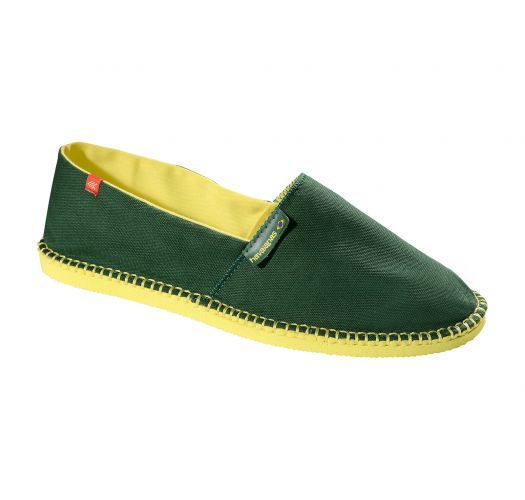 Bi-colour espadrilles green and yellow - Origine II Amazonia/Yellow