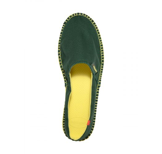 Bi-colour espadrilles green and yellow - Origine II Amazonia/Yellow
