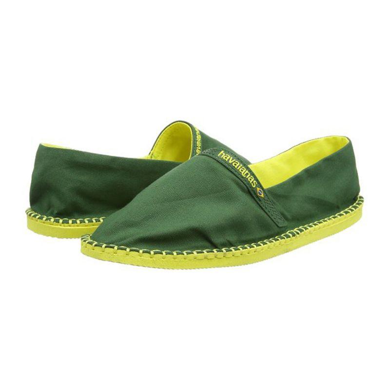 Tvåfärgade espadrillos, gröna och gula - Origine II Amazonia/Yellow