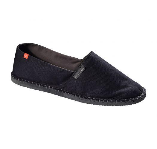 Black canvas espadrilles with rubber soles - Origine II Black