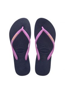 HAVAIANAS SLIM LOGO POP UP MARINHO ICE PINK