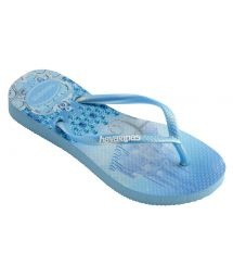 Tong Bleu - Havaianas Kids Slim Princess Lavender Blue