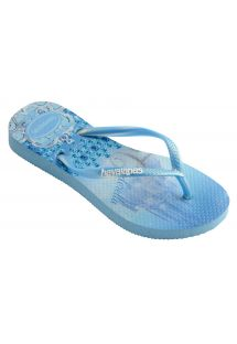 Blue Flip Flops - Havaianas Kids Slim Princess Lavender Blue