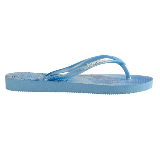 Blue Flip Flops - Havaianas Kids Slim Princess Lavender Blue