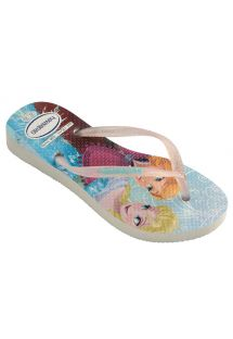 人字拖 Flip flops - Havaianas Kids Slim Princess White