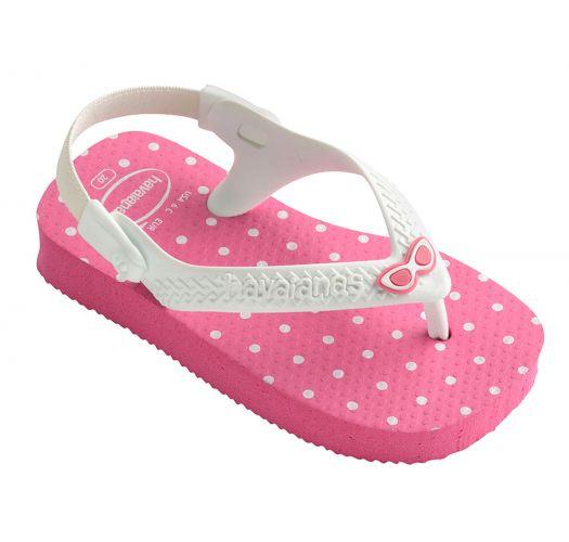 Pink flip flops - Havaianas Baby Chic Shocking Pink/White