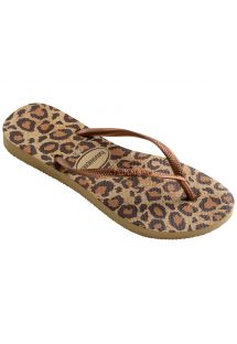 Infradito leopardati beige e marroni - Slim Animals Beige