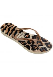 ビーチサンダル - Havaianas Slim Animals Beige/Rose Gold