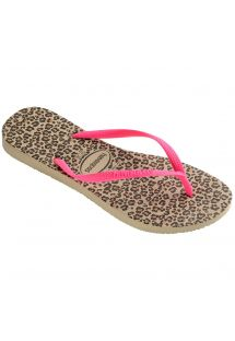 Chanclas - Havaianas Slim Animals Sandgrey/Pink