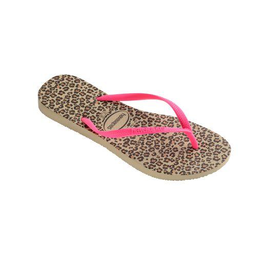 Flip-Flops - Havaianas Slim Animals Sandgrey/Pink