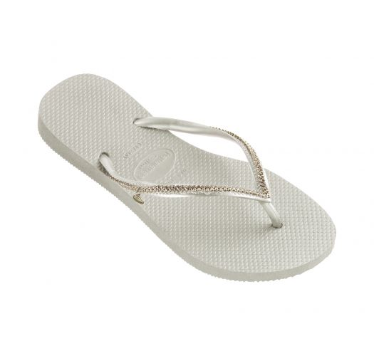 862e41ec6bd10a White Flip-flops With Swarovski Crystals - Slim Crystal Mesh Sw White -  Havaianas