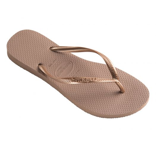 31d15d69f Nude Colour Havaianas Flip Flops With Rose Gold Strap - Slim Rose Gold -  Havaianas