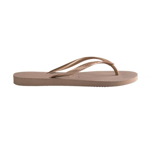 b692aa270 Nude colour Havaianas flip flops with rose gold strap - Slim Rose Gold