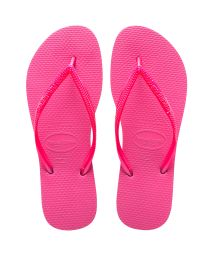 Bright pink Havaianas flip-flops - Slim Shocking Pink