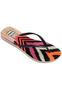 ビーチサンダル - Havaianas Slim Tribal White/Black
