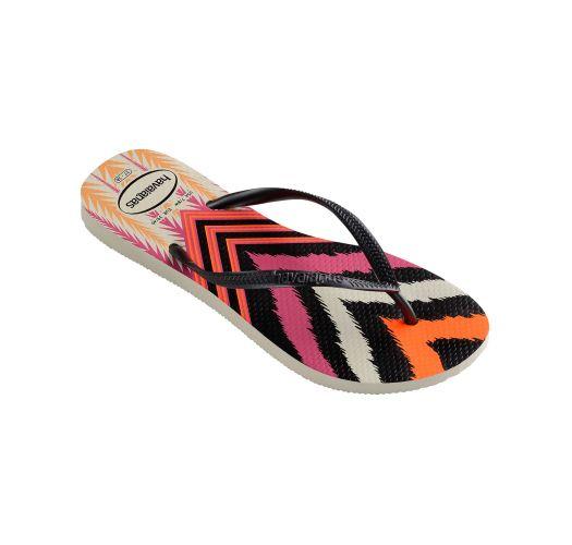 Flip-Flops - Havaianas Slim Tribal White/Black