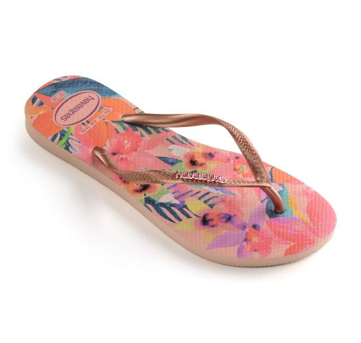 Havaianas Slim Tropical - Tongs - rose
