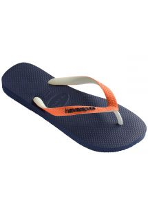 Zabky - Havaianas Top Mix Navy/Neon Orange