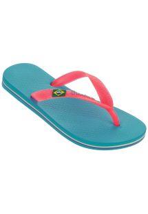 รองเท้าแตะ - Ipanema Classica Brasil II Kids Blue/Pink