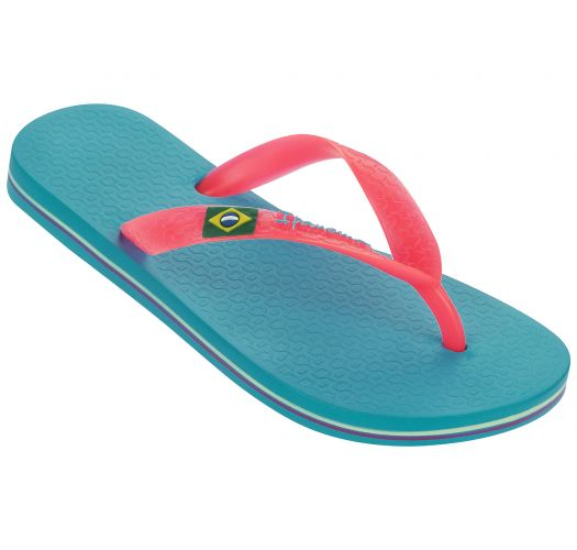 Flip-Flops - Ipanema Classica Brasil II Kids Blue/Pink