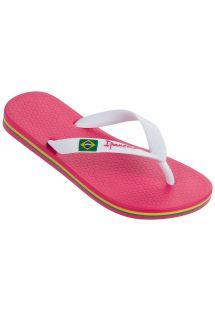 รองเท้าแตะ - Ipanema Classica Brasil II Kids Pink/White