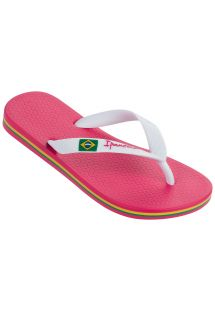 人字拖 Flip flops - Ipanema Classica Brasil II Kids Pink/White