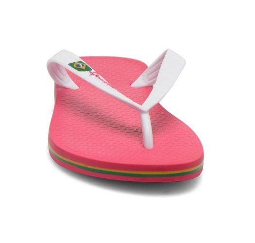 Flip-Flops - Ipanema Classica Brasil II Kids Pink/White
