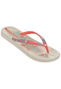 人字拖 - Ipanema Anatomic Lovely VI Fem Beige/Red