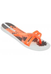 Flip-Flops - Ipanema Flip Print Fem White/Orange