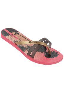 Flip-Flops - Ipanema Flip Print Fem Pink/Black