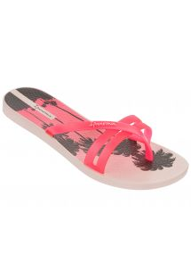 Pink Flip Flops - Ipanema Flip Print Fem Pink/Pink