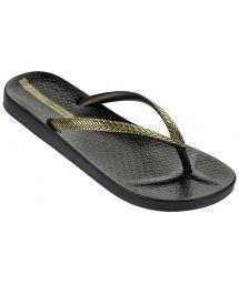 Flip-Flops - Ipanema Mesh Fem Black/Gold