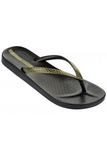 כפכפים - Ipanema Mesh Fem Black/Gold