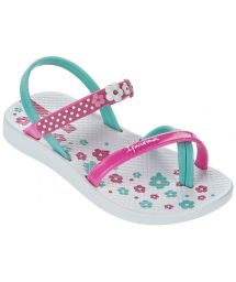 White Flip Flops - Ipanema Fashion Sandal III Baby White/Pink/Blue