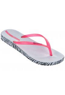 White Flip Flops - Ipanema Anatomica Soft Fem White/Pink