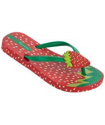 Red Flip Flops - Ipanema Tutti Frutti Kids Red/Green