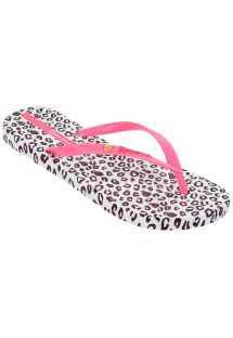 Flip-Flops - Ipanema Animal Print Fem White/Pink/Purple
