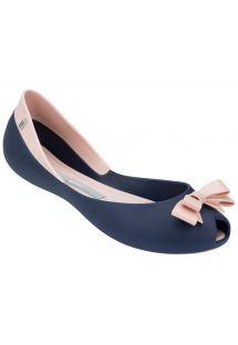 Navy blue and light pink ballet flats by Melissa -  MELISSA QUEEN - BLUE-LIGHT PINK