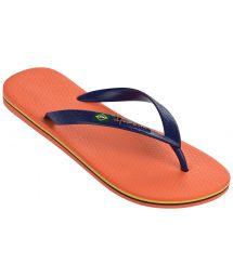 Flip-Flops - Ipanema Classica Brasil II Ad Orange/Blue