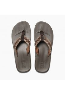 Anatomic flip-flops - brown woven - CUSHION SMOOTHY BROWN