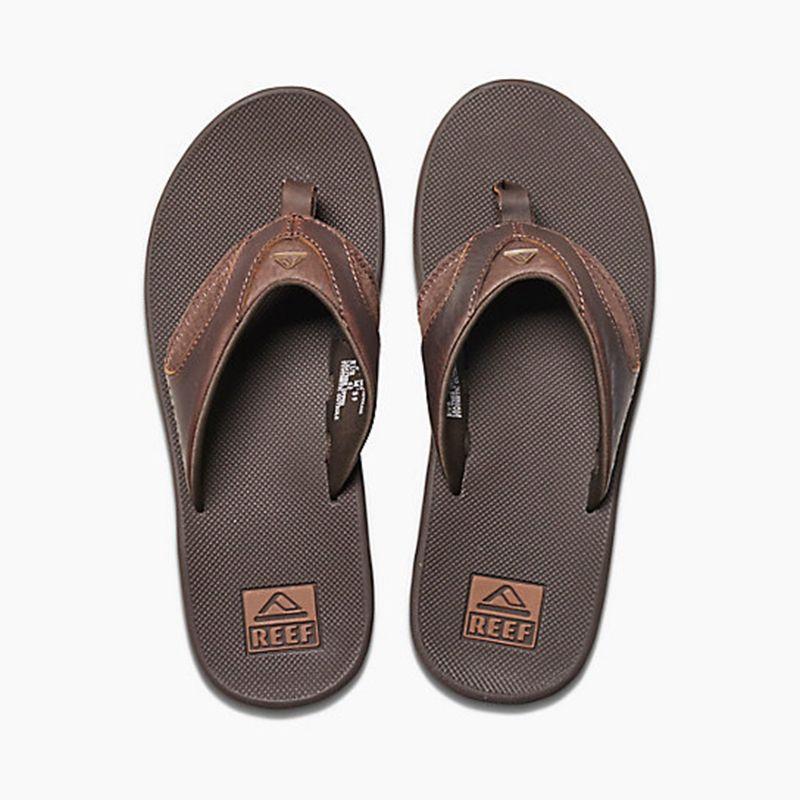 Bruna sandaler med integrerad flasköppnare - LEATHER FANNING BROWN