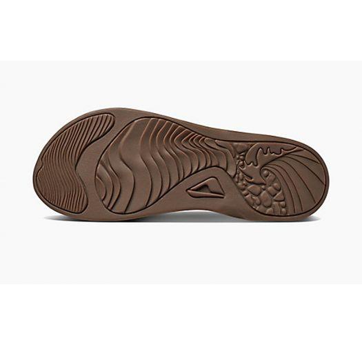Leather and EVA brown anatomic flip flops - REEF J-BAY III BRONZE BROWN