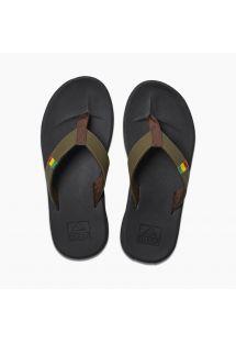 Anatomic man khaki & black sport sandals - SLAMMED ROVER OLIVE/RASTA